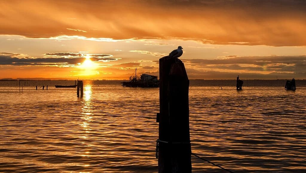 tramonto a pellestrina venezia lido